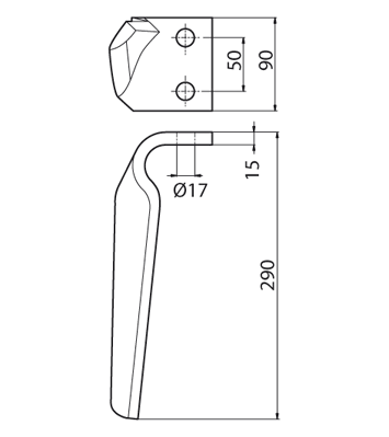 Coltello per erpice - Compatibile con FALC - TRAT5384