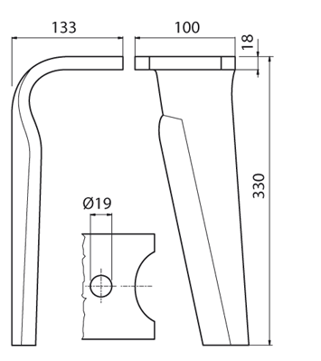 Coltello per erpice - Compatibile con FALC - TRAT5391