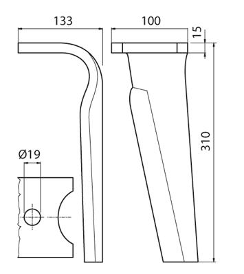 Coltello per erpice - Compatibile con FALC - TRAT5393