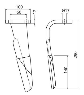 Coltello per erpice - Compatibile con FERABOLI - TRAT5522