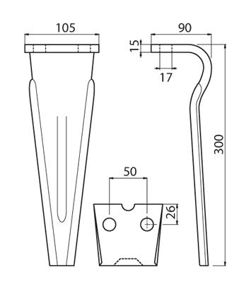 Coltello per erpice - Compatibile con FORIGO|ROTERITALIA - TRAT5533