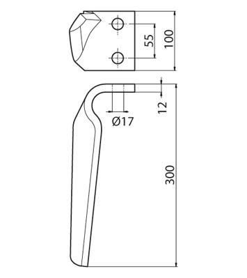 Coltello per erpice - Compatibile con FRANDENT - TRAT5554