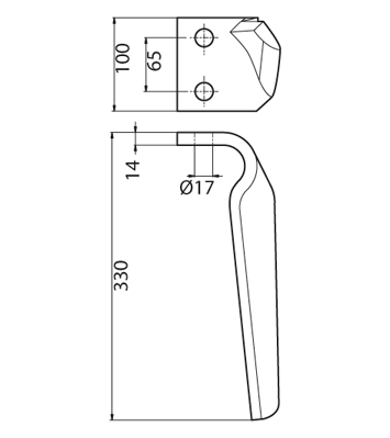 Coltello per erpice - Compatibile con FRANDENT - TRAT5559