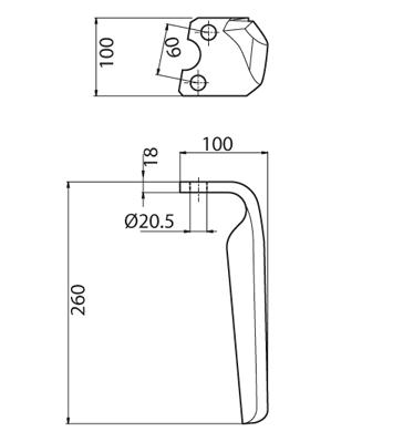 Coltello per erpice - Compatibile con KRONE - TRAT5888