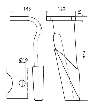 Coltello per erpice - Compatibile con KUHN - TRAT6061