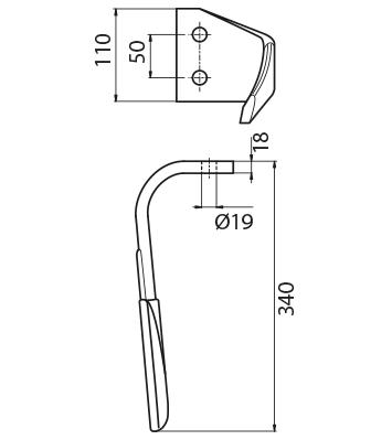 Coltello per erpice - Compatibile con KVERNELAND | MALETTI - TRAT6069