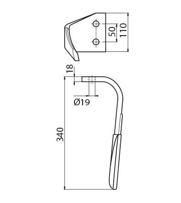 Coltello per erpice - Compatibile con KVERNELAND | MALETTI - TRAT6070