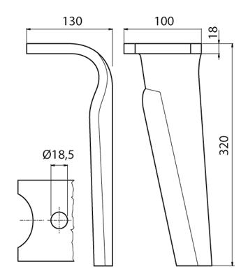Coltello per erpice - Compatibile con KVERNELAND   MALETTI - TRAT6083
