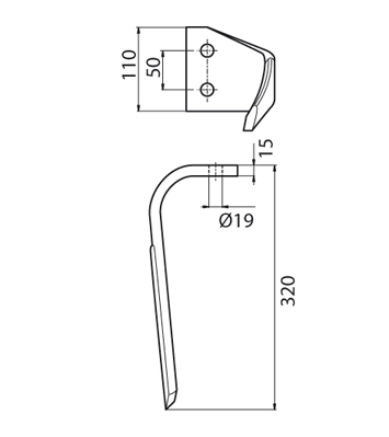 Coltello per erpice - Compatibile con KVERNELAND | MALETTI - TRAT6426