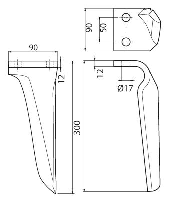 Coltello per erpice - Compatibile con MASCHIO - TRAT6471