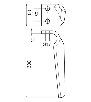 Coltello per erpice - Compatibile con MORENI - TRAT6558