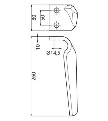 Coltello per erpice - Compatibile con TORTELLA - TRAT6754