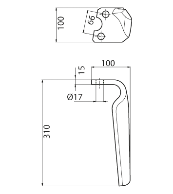 Coltello per erpice - Compatibile con PERUGINI CONCEPT - TRAT6947